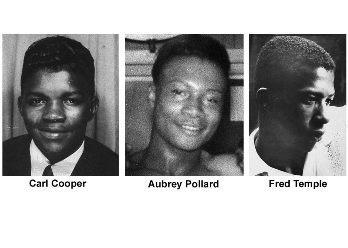 Carl Cooper, 17, Aubrey Pollard, 19, and Fred Temple, 18