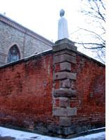The cemetery wall of old St Patrick's in Little Italy