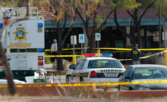 Giffords shooting crime scene.