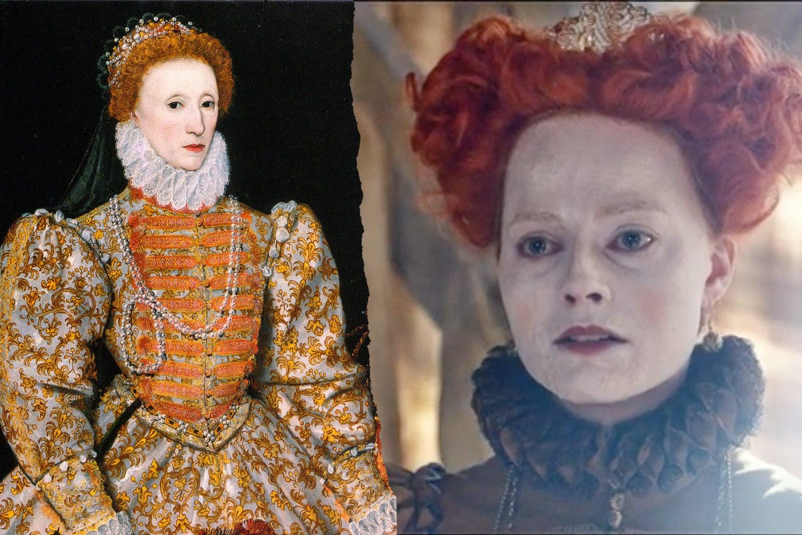 Elizabeth I, Margot Robbie as Elizabeth I