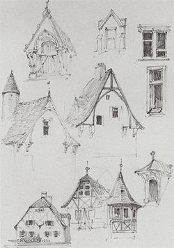 Architectural sketch by Vasiliy Polenov. Click image to expand.