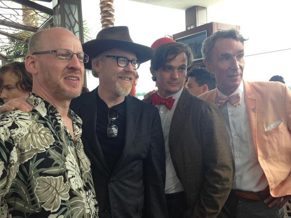 Phil Plait, Adam Savage, Bill Nye, and the Doctor