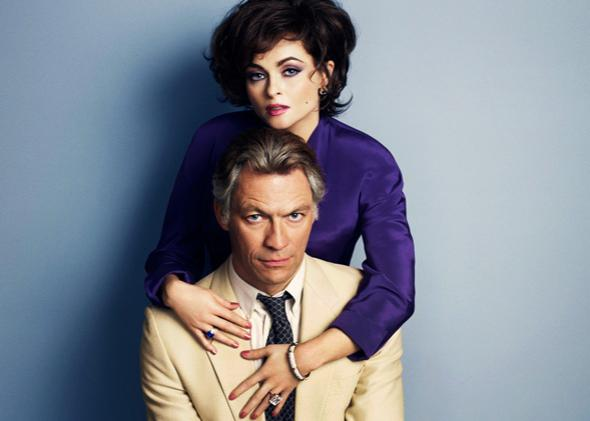 Helena Bonham Carter as Elizabeth Taylor and Dominic West as Richard Burton.