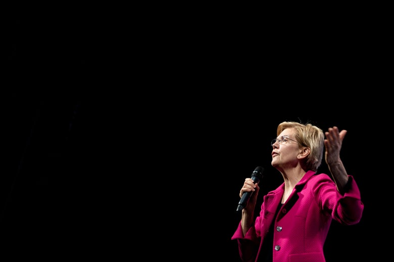 Elizabeth Warren speaks during the We The People summit.