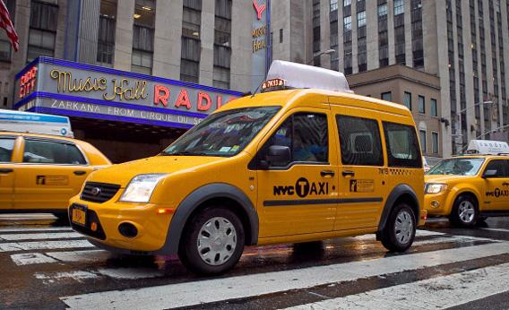 Ford Taxi Debuts In New York City on September 6, 2011 in New York City.