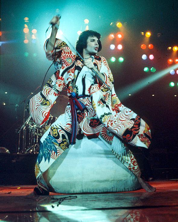 Freddie Mercury, circa 1977.