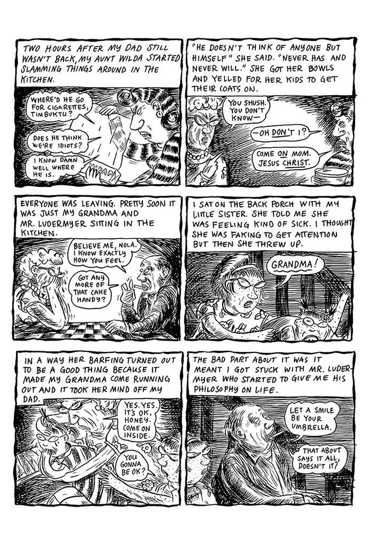 A Lynda Barry cartoon from RAW (1990).