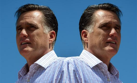 Republican presidential hopeful Mitt Romney speaks at a campaign rally at Scamman Farm in Stratham, New Hampshire, on June 15, 2012.