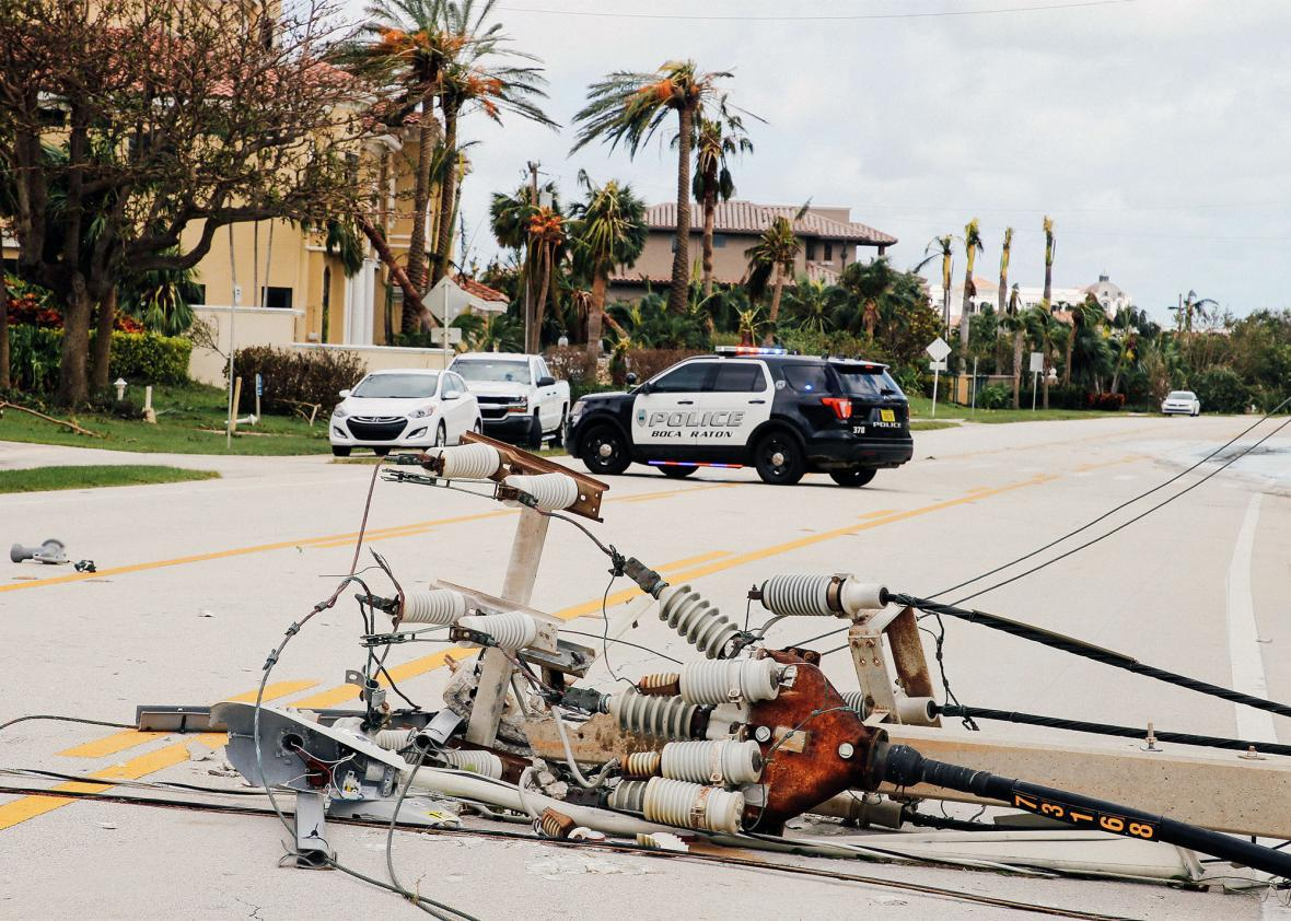 Hurricane Irma downed power line Florida