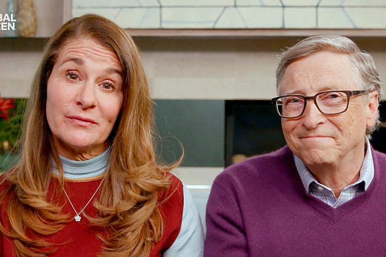 """In this screengrab, Melinda Gates and Bill Gates speak during """"One World: Together At Home"""" presented by Global Citizen on April, 18, 2020."""