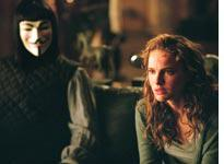 Hugo Weaving as V and Natalie Portman as Evey in V for Vendetta          Click image to expand.
