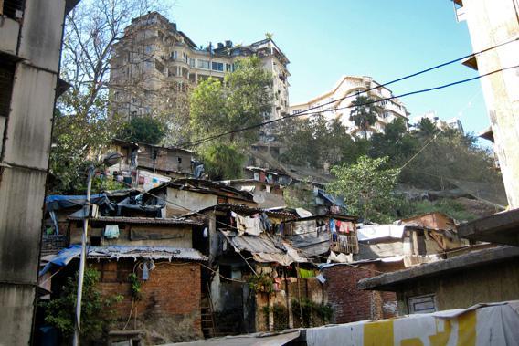 Slum And Luxury Apartments In Mumbai India