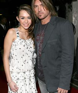 Miley and Billy Ray Cyrus. Click image to expand.