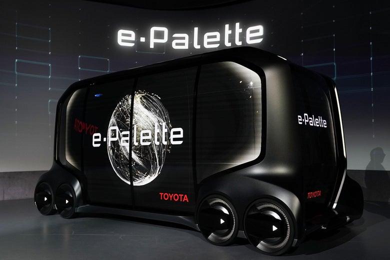 Toyota's boxy new e-Palette concept vehicle.