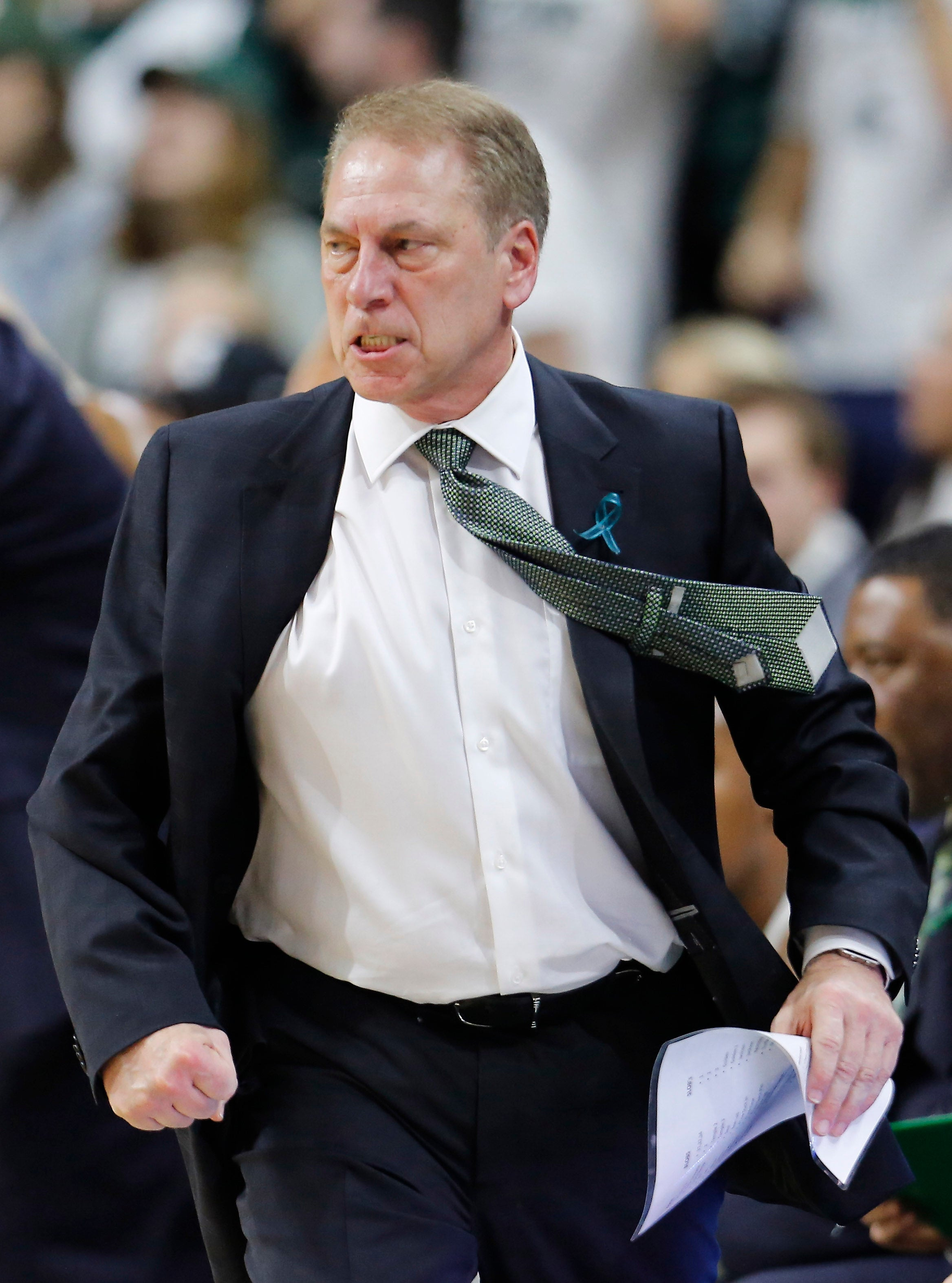 Michigan State University basketball head coach Tom Izzo on Feb. 20 in East Lansing, Michigan.