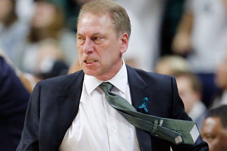 Michigan State University basketball head coach Tom Izzo on Feb. 20 in East Lansing, Michigan.