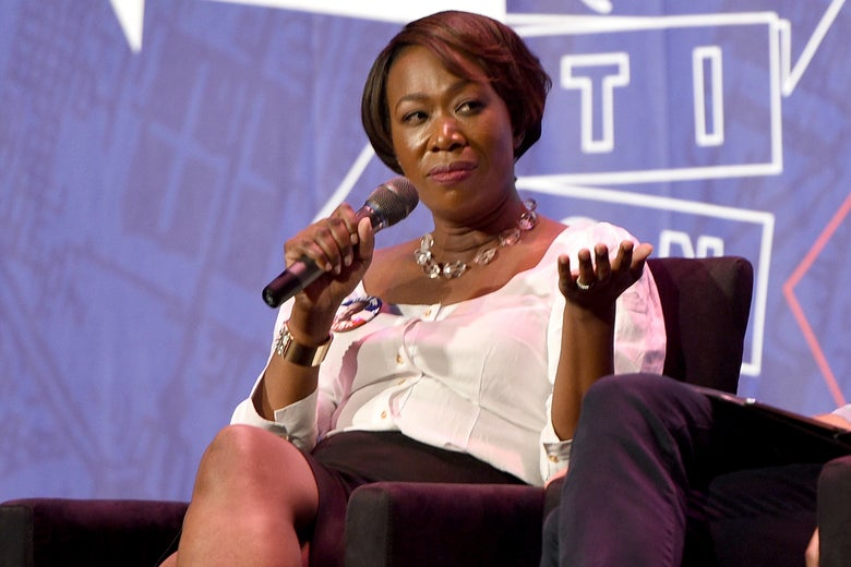 Joy Reid on a panel in Pasadena, California, on July 29.