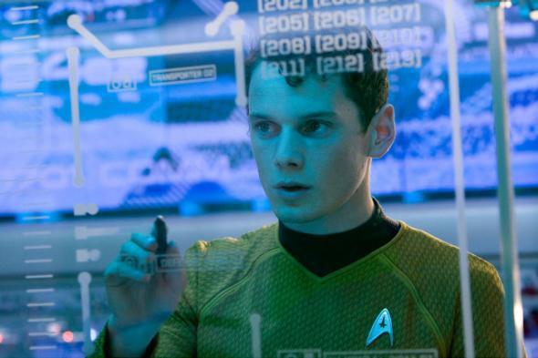 Anton Yelchin in Star Trek (2009).