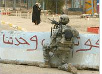 An American soldier in Iraq. Click image to expand