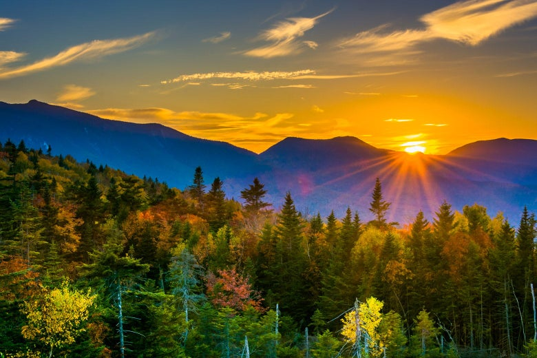 New Hampshire forest and mountain