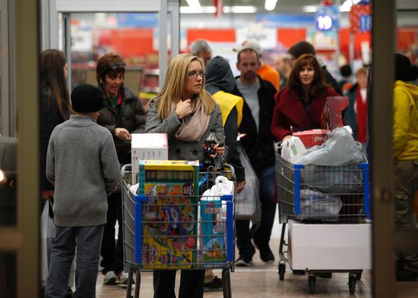 Walmart customers on Thanksgiving