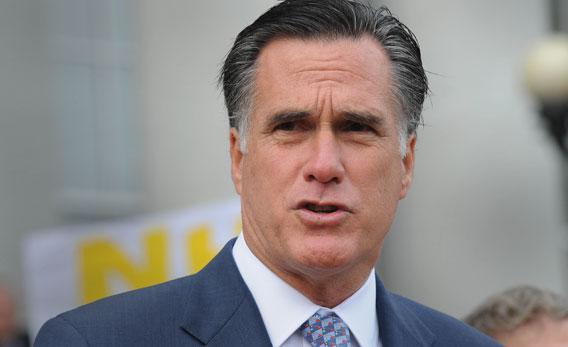 Republican presidential candidate former Massachusetts Gov. Mitt Romney.