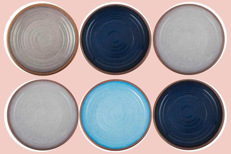 Six melamine plates