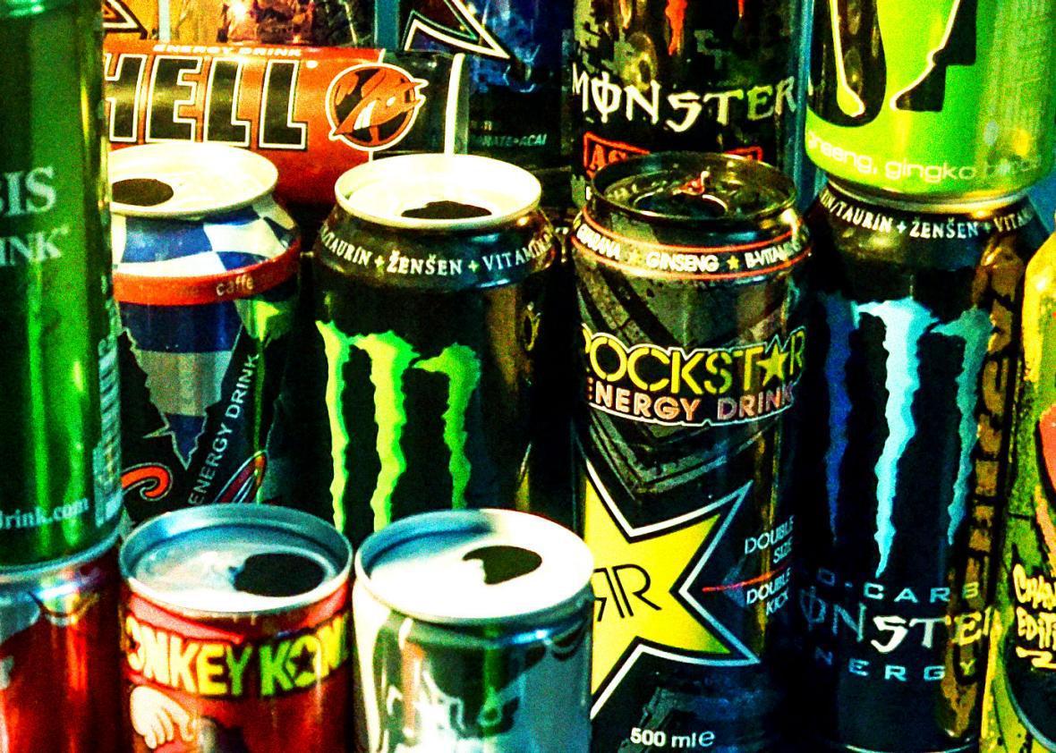 Empty energy drinks. Photographed on Dec. 20, 2013.