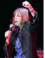 Patti Smith in concert.          Click image to expand.