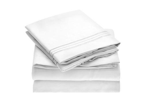 White Mellanni sheet set.
