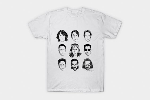 The Evolution of Keanu Reeves T-shirt