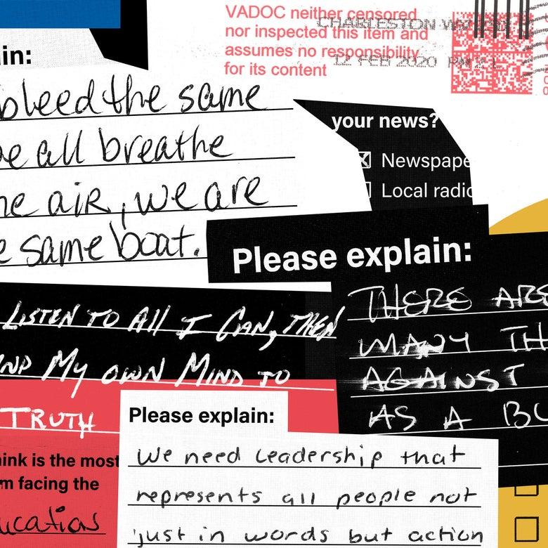 Handwritten respones.