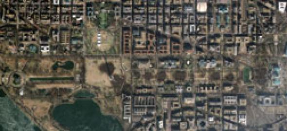 A satellite image of the National Mall. Click image to expand.