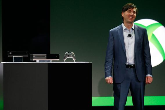 Don Mattrick, President of the Interactive Entertainment Business at Microsoft reveals the Xbox One during a press event in Redmond, Washington May 21, 2013.