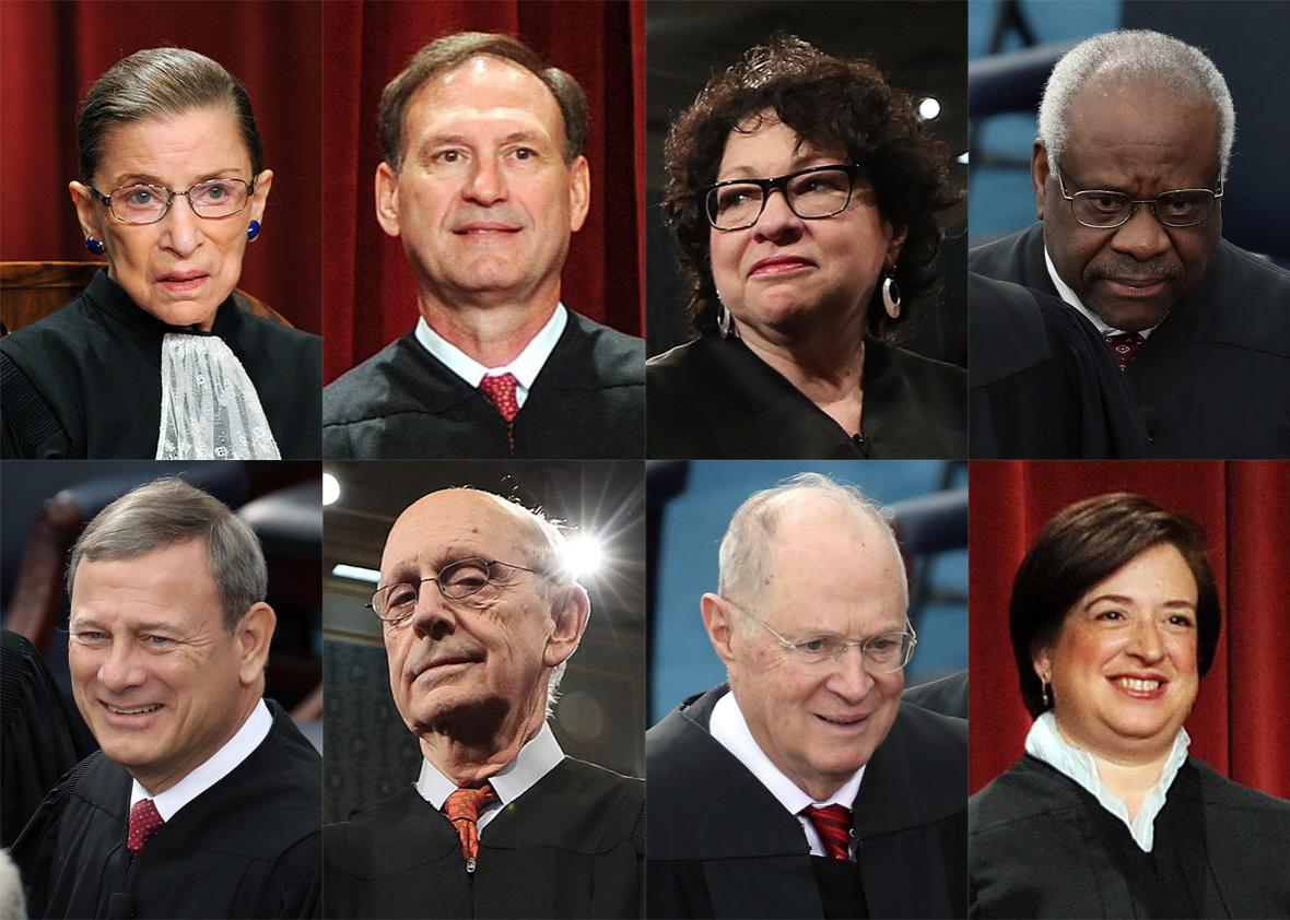 The Justices of the US Supreme Court