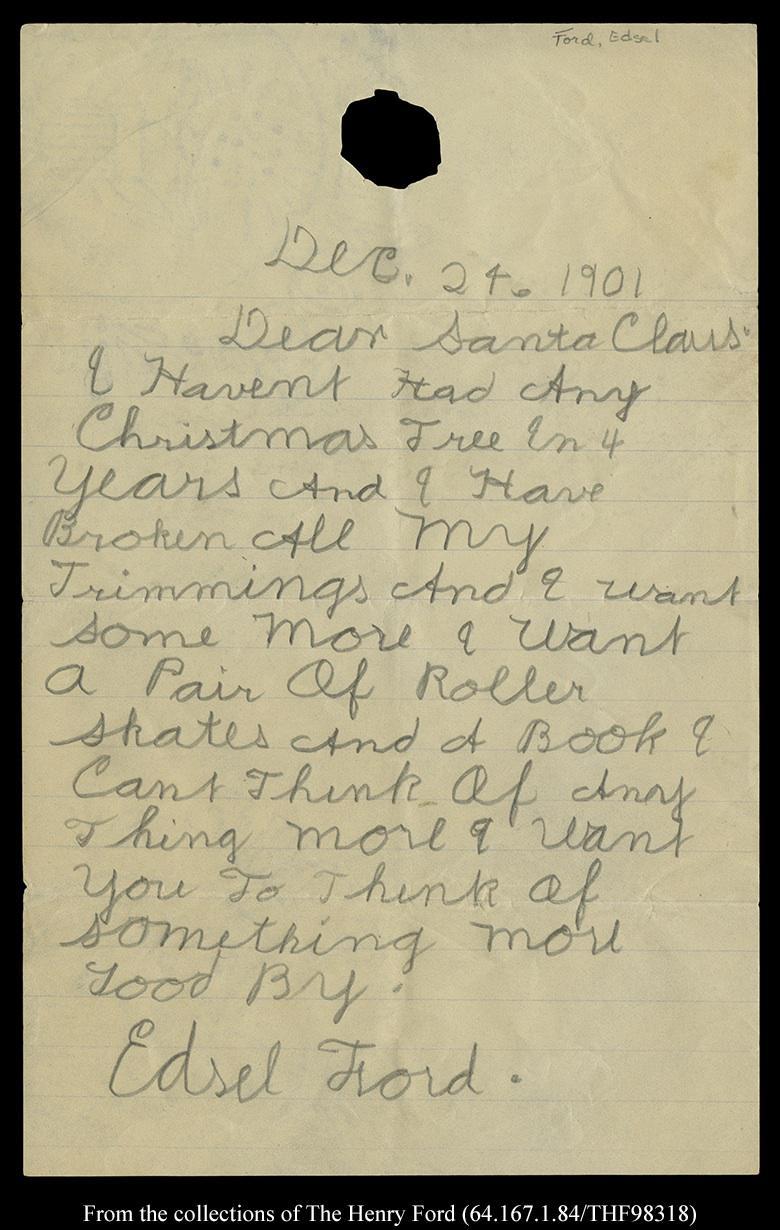 Edsel Ford's Letter to Santa
