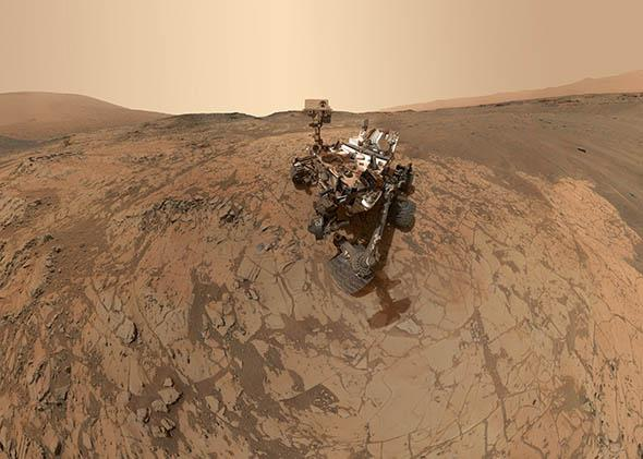 self-portrait of NASA's Curiosity Mars rover.