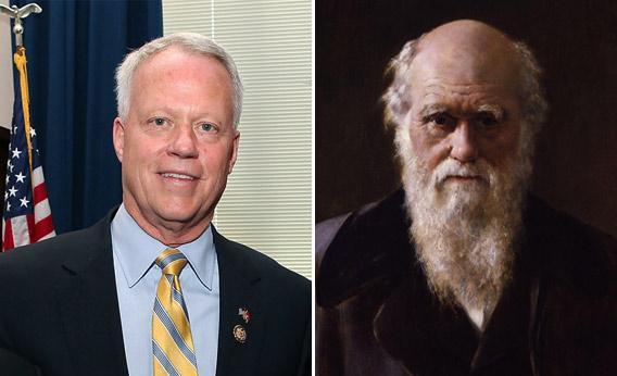 Rep. Paul Broun and Charles Darwin.