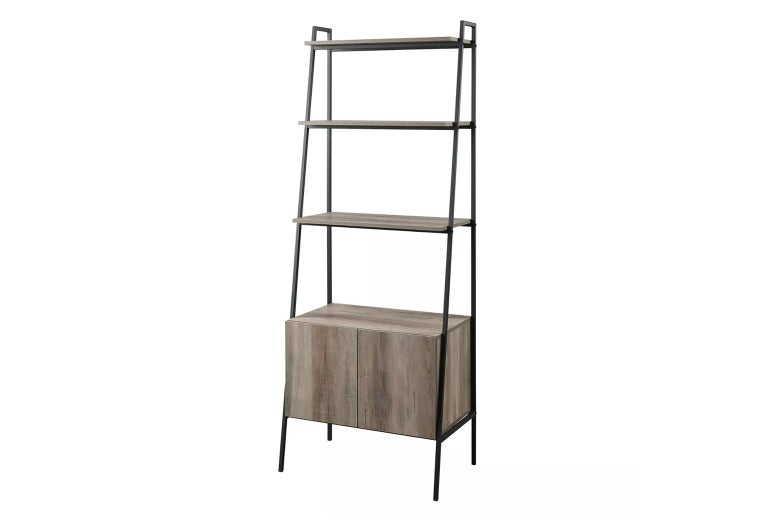 Open Shelf and Closed Storage Ladder