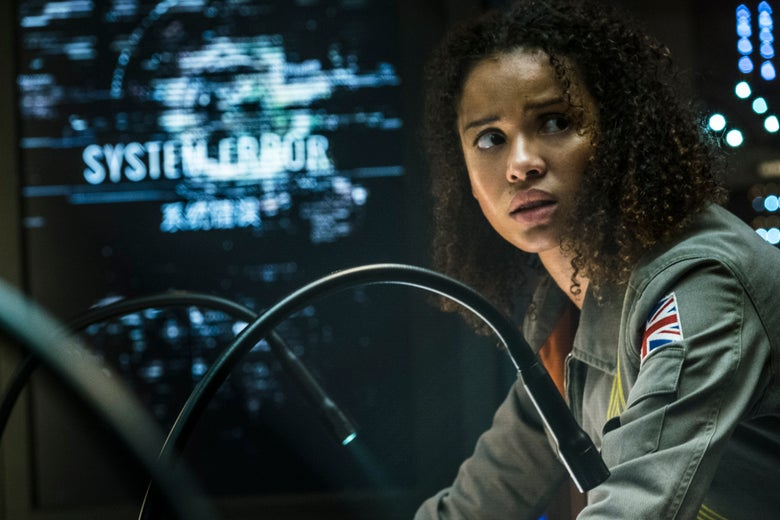 Gugu Mbatha-Raw in The Cloverfield Paradox.