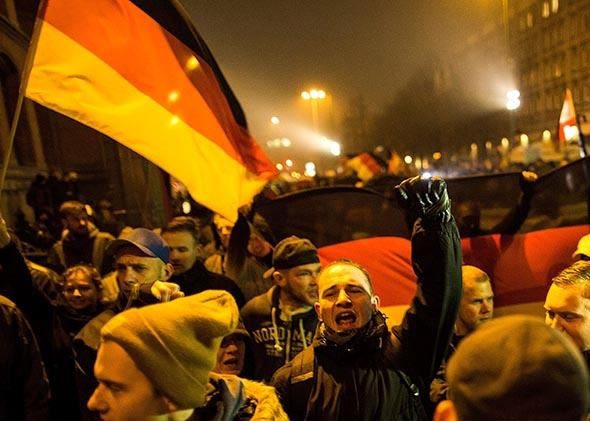Pegida rally in Germany.