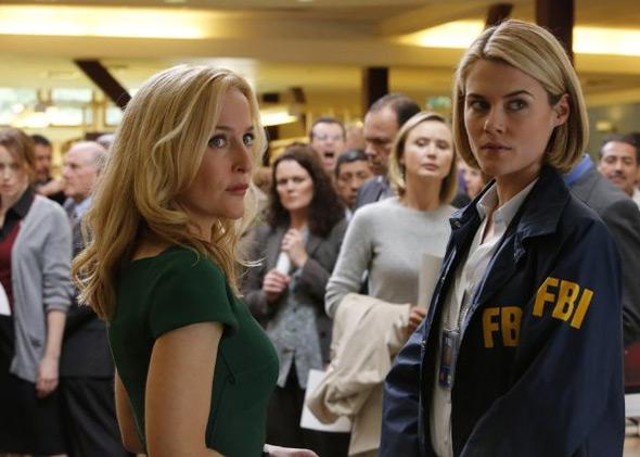 Gillian Anderson and Rachael Taylor in Crisis.