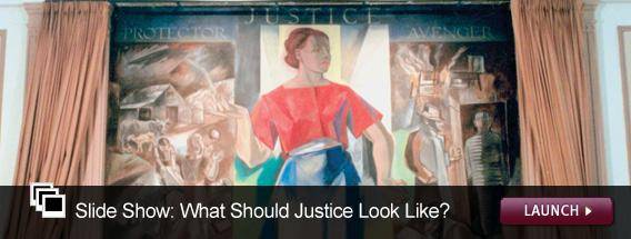 Cick here to launch a slideshow on how the image of Lady Justice have changed over time.