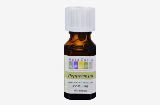 Aura Cacia Cooling Peppermint Essential Oil.