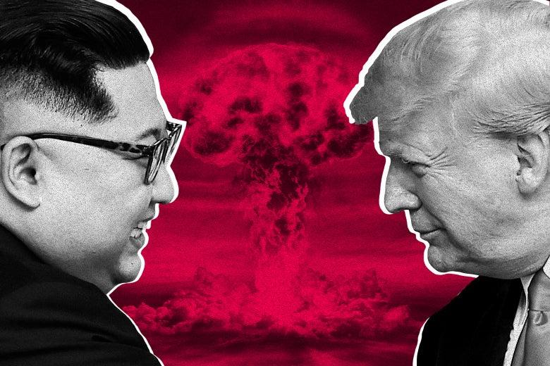 North Korea's leader Kim Jong-un and U.S. President Donald Trump.