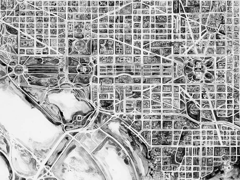 The Alien's Guide to the Ruins of Washington, D.C. (detail).