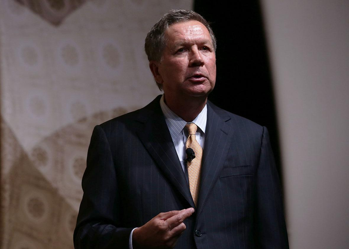 "Ohio Governor John Kasich speaks during the ""Road to Majority"" conference June 19, 2015 in Washington, DC."