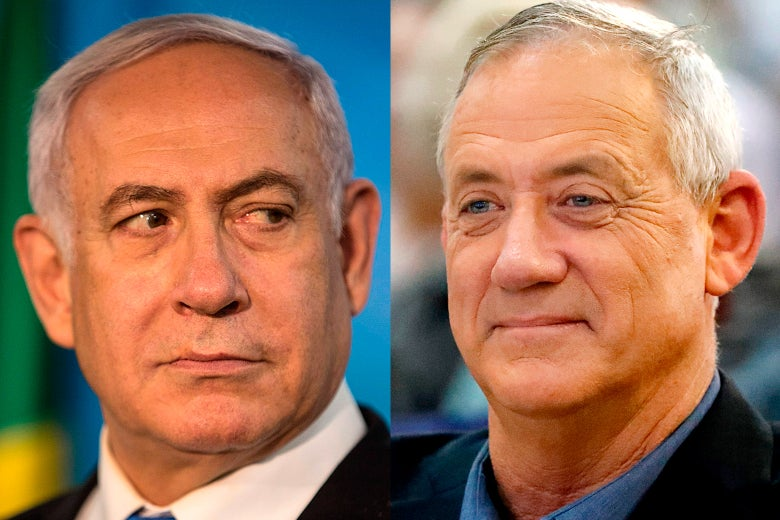 Benjamin Netanyahu and Benny Gantz.