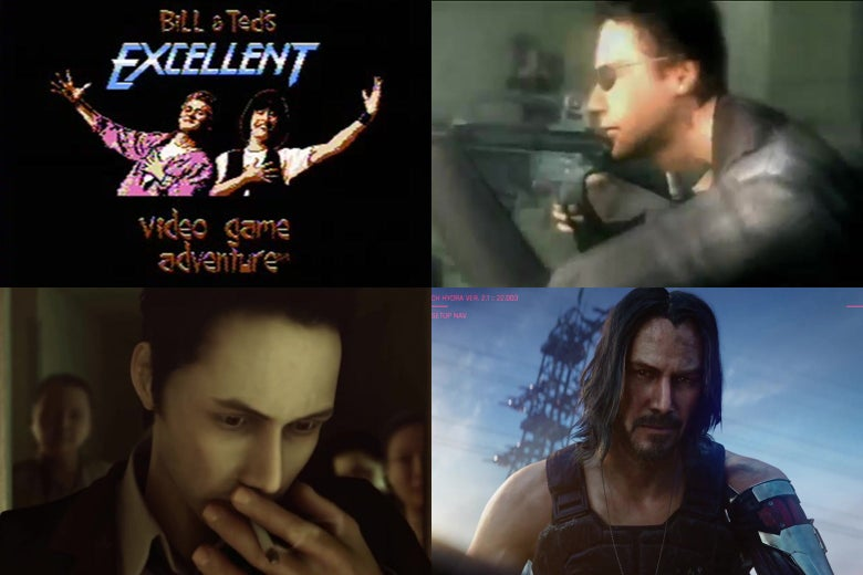 Keanu Reeves in four different video games.