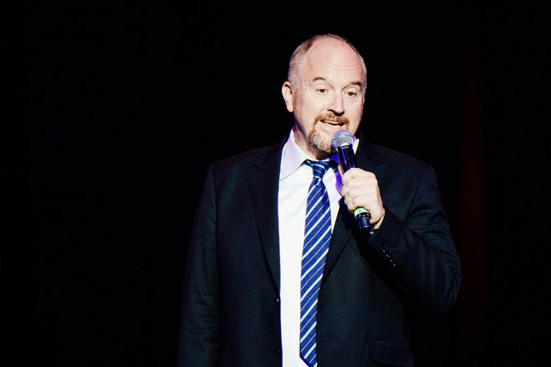 Louis C.K. doing stand-up.